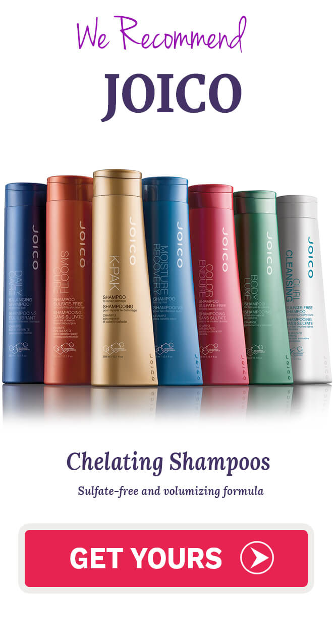 Joico moisture recovery conditioner, Joico leave in conditioner, Joico daily care treatment shampoo, Joico k pak reconstruct shampoo, joico volume shampoo, Joico Color Infuse Copper Shampoo and Conditioner