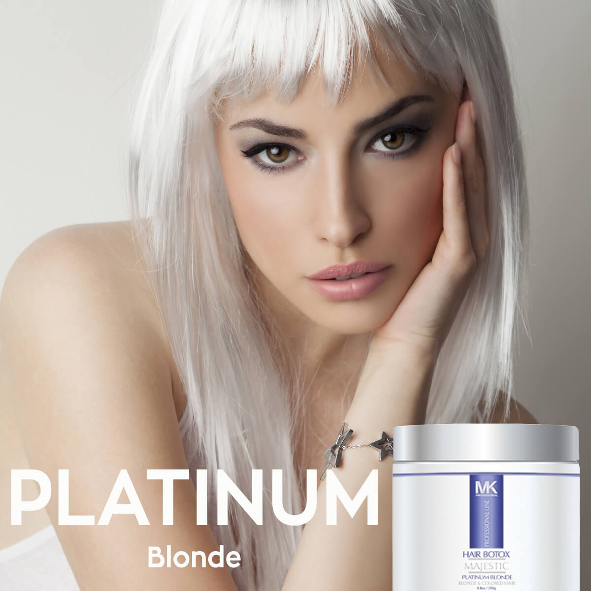 Blondes Rejoice The New Majestic Keratin Platinum Blonde Hair