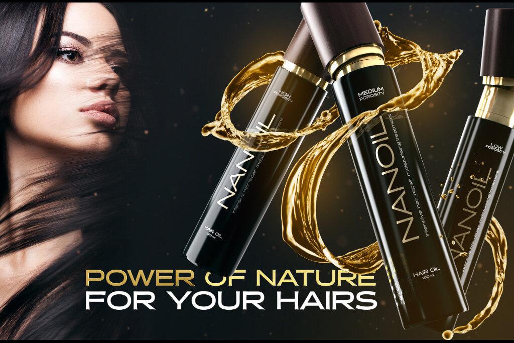 Nanoil hair porosity oil